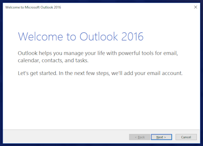 Outlook start up page